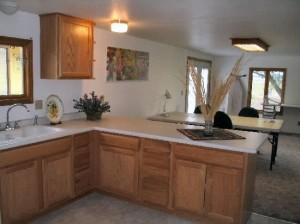 Kitchen at Mountain View Retreat in Deer Lodge, Montana