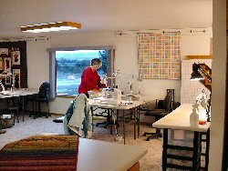 Sewing Area at Mountain View Retreat in Deer Lodge, Montana